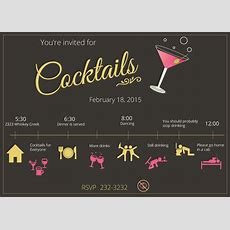 Cocktail Party Invite By Fictionchick On Deviantart