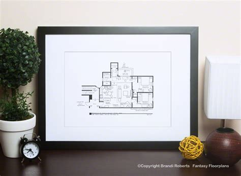friends apartment layout buy a poster of monica and rachel 39 s floor plan