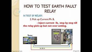 How To Test Earth Fault Relay