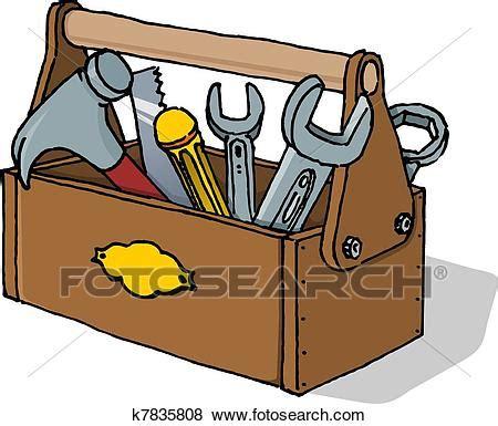 Clip Art Of Toolbox Vector Illustration K7835808 Search