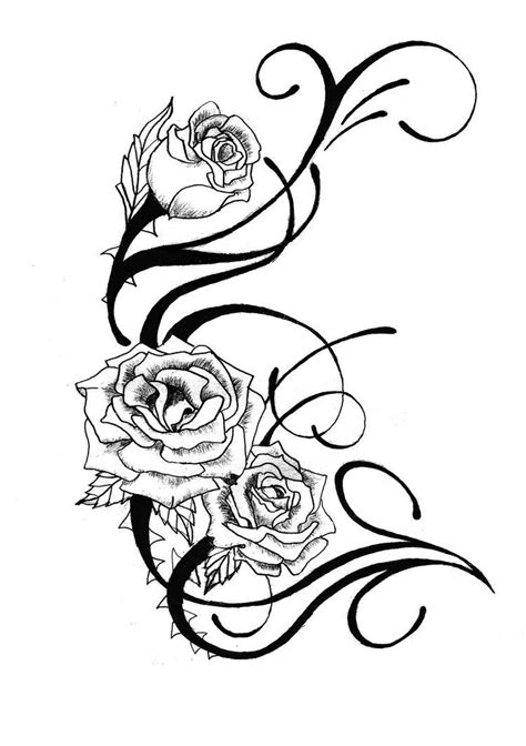 Free Rose Tattoo Designs - ClipArt Best | Black and white flower tattoo, Rose tattoo design
