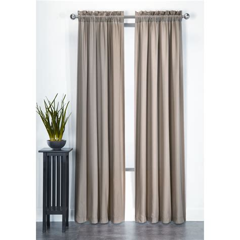 essential home microfiber panel taupe home home