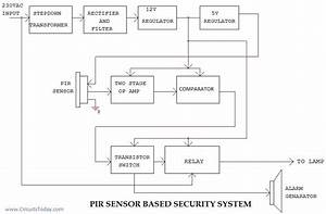 Pir Sensor Based Security System Circuit