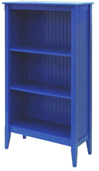 Bookcase Board by Bead Board Bookcase With Three Shelves For Sale Cottage