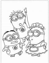 Coloring Pages Boy Adults Minion Minions Characters Character Books Fun sketch template
