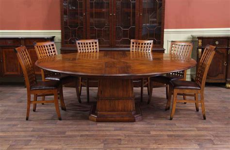 expandable round dining room table tropical round table solid walnut expandable round dining