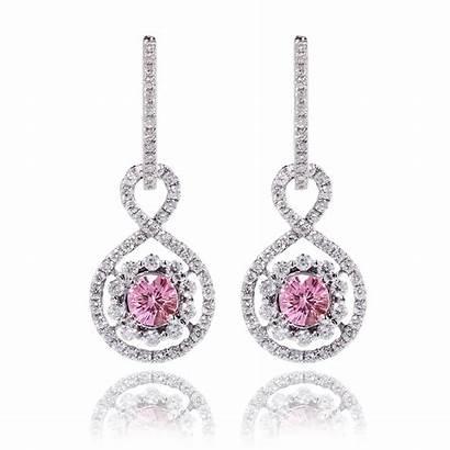 Diamond Pink Earrings Sapphire Jewelry Ring Heart