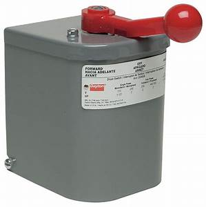 Dayton Maintained Reversing Plastic Drum Switch  3 Pole