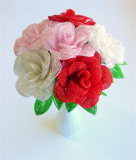 Роза и бисера схема