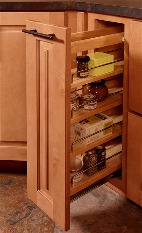 kitchen cupboard storage racks built in storage cabinets feature pull out spice rack 4355