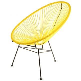 bureau plus ajaccio chaise design acapulco jaune la chaise longue
