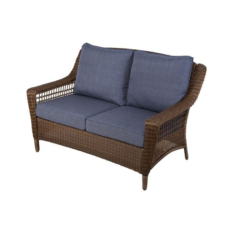 sofa springs home depot hton bay spring haven brown all weather wicker outdoor