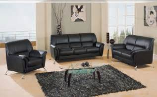sofa de gl sofa set black leatherette sofas