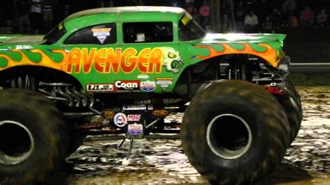 next monster truck show avenger monster truck freestyle youtube