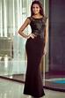 Women Sequin Black Lace Floor Length Gowns - Online Store ...