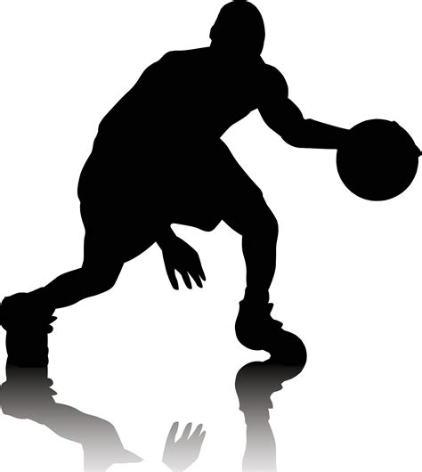 basketball player clipart black and white basketball outline clipart best