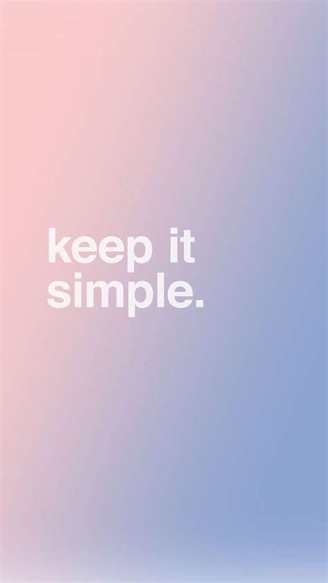 Simple Lock Screen Wallpaper by Keep It Simple Wallpapers Simple Iphone Wallpaper