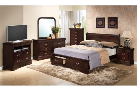 bedroom sets dawson cappuccino king size storage