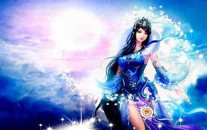 Fantasy Warrior Princess Asian Princesse Female Anime