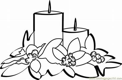 Christmas Candles Coloring Pages Coloringpages101 Celebrations Pdf