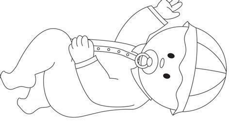 dessin dun bebe couche activites coloriage  jeux en