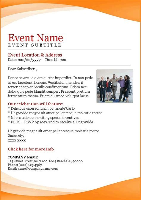 Rsvp Template For Event Business Event Email Invitation Templates Templates