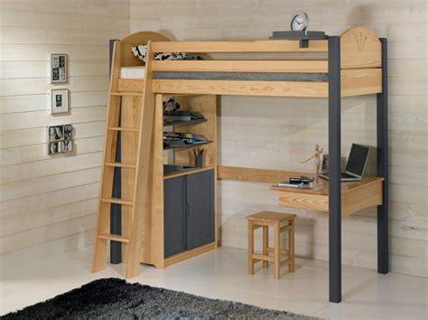 lit surélevé avec bureau intégré lit mezzanine avec bureau dcopin secret de chambre