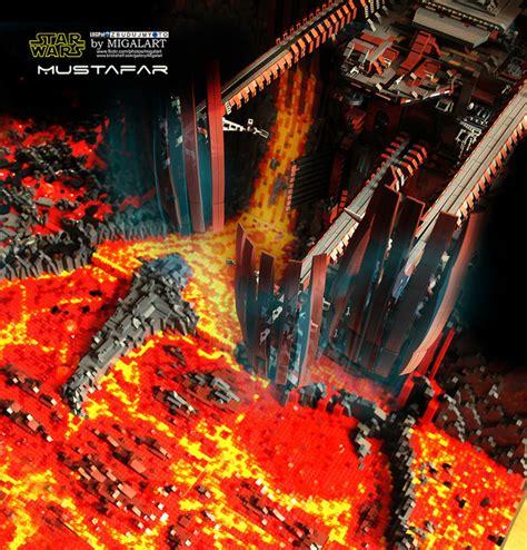 lego build recreates lava laced star wars locale the