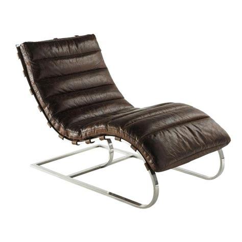 fauteuil en cuir marron freud maisons du monde