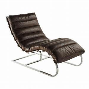 Chaise Tolix Maison Du Monde : fauteuil en cuir marron freud maisons du monde ~ Melissatoandfro.com Idées de Décoration