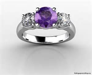 purple engagement ring engagement wedding rings