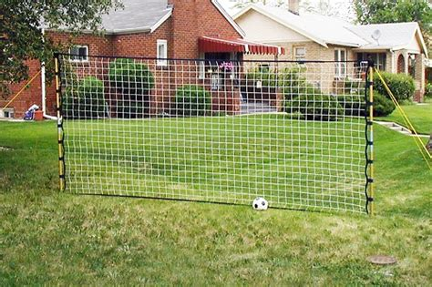 7' X 15' Powrnet Portable Soccer Rebounder With Net