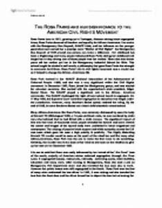 civil right movement essay grade 12