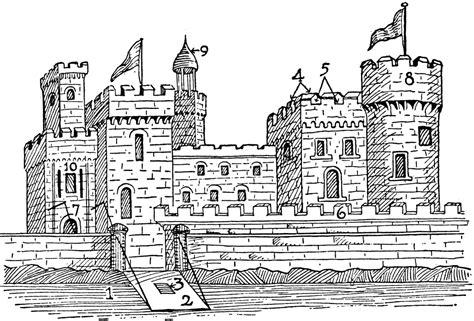 Medieval Castle Clip Art Black