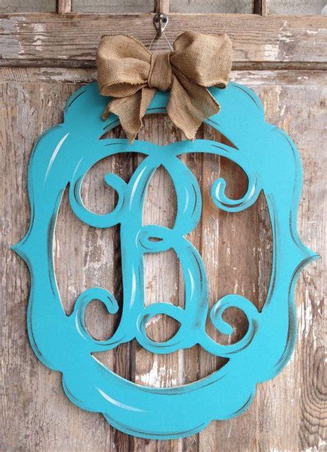 monogram door decor vintage modern distressed burlap trendy monogram door decor lette