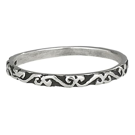 Thin Scroll Band Ring