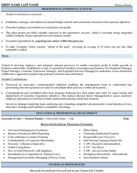 regional sales manager resume sle template
