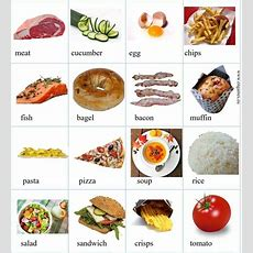 """""""food & Drinks"""" Vocabulary In English 500+ Items Illustrated  Esl Buzz"""