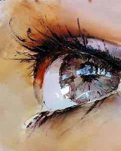 Close Up Sad Eyes Art Painting - Images, Photos, Pictures