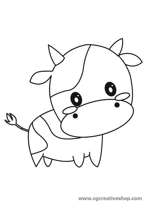 mucca disegno  bambini da colorare