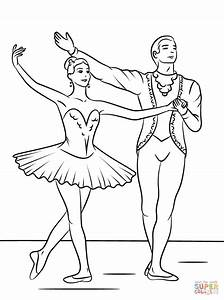 Sleeping Beauty Ballet coloring page | Free Printable ...