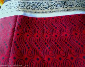 Red Sari Fabric By The Yard | Unique Indian Handmade Fabrics