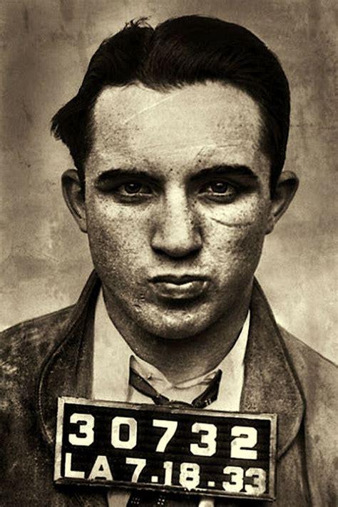 mickey cohen mugshot gangster photo reprint