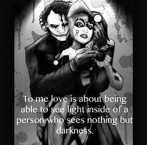 Joker Love Quot... Harley And Joker Quotes