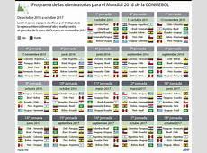 Calendario Eliminatorias Rusia 2018 de la CONMEBOL