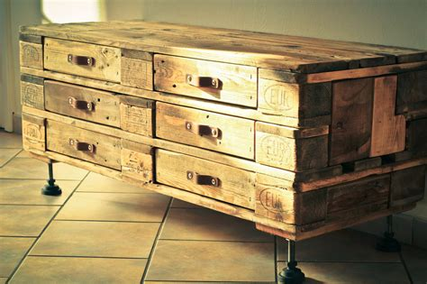 stylish dressing tables pallet chest of six drawers