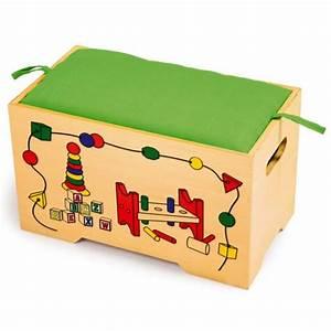 Coffre Jouet Bois : coffre jouets en bois avec 6 jouets la f e du jouet ~ Teatrodelosmanantiales.com Idées de Décoration