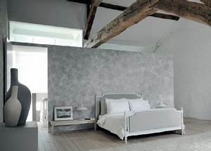 Peinture Blanc Gris : peinture chambre parentale couleur gris et blanc ~ Nature-et-papiers.com Idées de Décoration