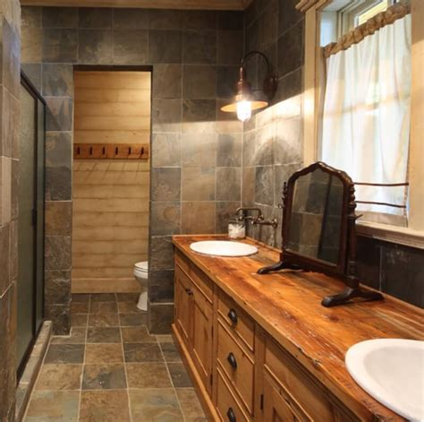 Modern Rustic Bathroom Tile by Achieve A Modern Rustic Aesthetic With Slate Tile