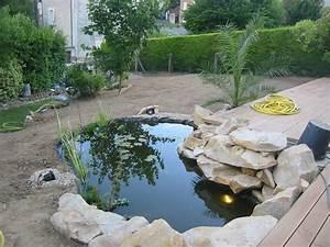 creation cascade bassin jardin obasinccom With creation bassin de jardin